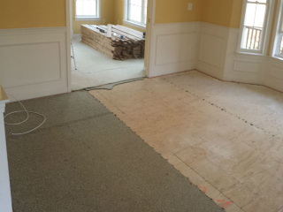 Carpet to hardwood