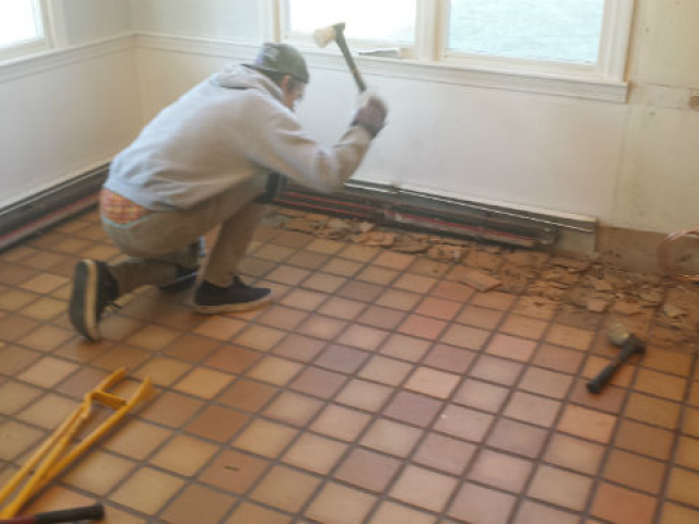 Tile Removed in Lynnfield MA