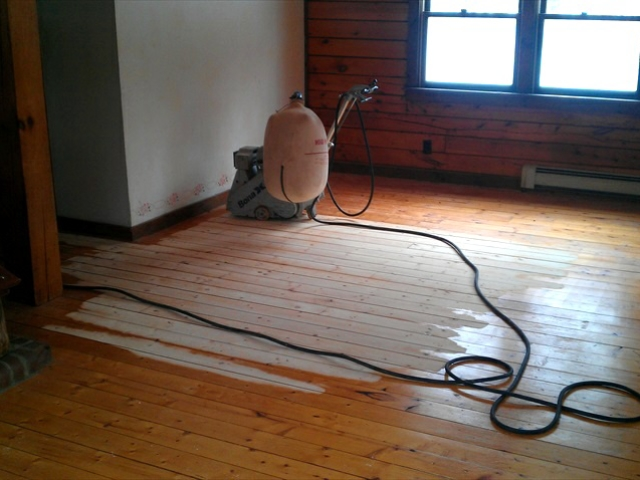 Nantucket floor sanding